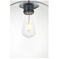 Living District LD2224BK Baxter 1 Light 12 inch Black Pendant Ceiling Light alternative photo thumbnail