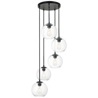 Living District LD2226BK Baxter 5 Light 18 inch Black Pendant Ceiling Light