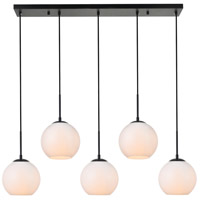Living District LD2229BK Baxter 5 Light 8 inch Black Pendant Ceiling Light
