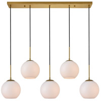 Living District LD2229BR Baxter 5 Light 8 inch Brass Pendant Ceiling Light