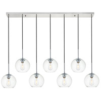 Living District LD2230C Baxter 7 Light 8 inch Chrome Pendant Ceiling Light