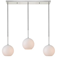 Living District LD2237C Baxter 3 Light 8 inch Chrome Pendant Ceiling Light