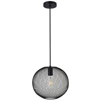 Living District LD2249BK Keller 1 Light 11 inch Black Pendant Ceiling Light
