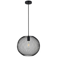Living District LD2250BK Keller 1 Light 13 inch Black Pendant Ceiling Light
