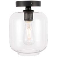 Living District LD2270BK Collier 1 Light 7 inch Black Flush Mount Ceiling Light