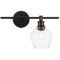 Living District LD2300BK Gene 1 Light 15 inch Black Wall sconce Wall Light, Right