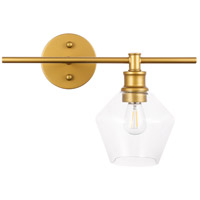 Living District LD2300BR Gene 1 Light 15 inch Brass Wall sconce Wall Light, Right
