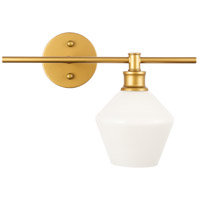 Living District LD2301BR Gene 1 Light 15 inch Brass Wall sconce Wall Light, Right