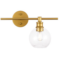 Living District LD2302BR Collier 1 Light 15 inch Brass Wall sconce Wall Light, Right