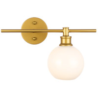 Living District LD2303BR Collier 1 Light 15 inch Brass Wall sconce Wall Light, Right