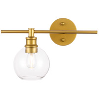 Living District LD2306BR Collier 1 Light 15 inch Brass Wall sconce Wall Light Left