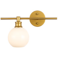 Living District LD2307BR Collier 1 Light 15 inch Brass Wall sconce Wall Light Left
