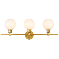 Living District LD2319BR Collier 3 Light 28 inch Brass Wall sconce Wall Light
