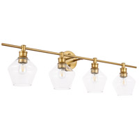 Living District LD2320BR Gene 4 Light 38 inch Brass Wall sconce Wall Light alternative photo thumbnail