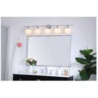 Living District LD2327C Collier 5 Light 47 inch Chrome Wall sconce Wall Light alternative photo thumbnail