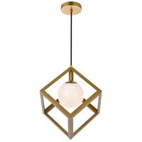 Living District LD2413BR Linea 1 Light 16 inch Brass Pendant Ceiling Light