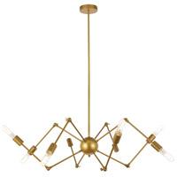 Living District LD2421BR Amira 8 Light 44 inch Brass Pendant Ceiling Light