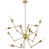 Living District LD2422BR Amira 12 Light 44 inch Brass Pendant Ceiling Light