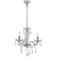 Valencia 3 Light 19 inch Chrome Pendant Ceiling Light