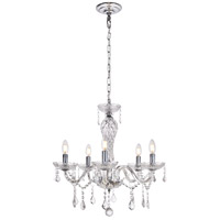 Valencia 5 Light 23 inch Chrome Chandelier Ceiling Light