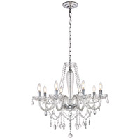 Verdi 8 Light 28 inch Chrome Chandelier Ceiling Light