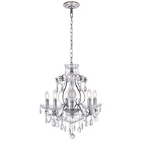 Voltaire 5 Light 22 inch Chrome Chandelier Ceiling Light