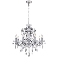 Voltaire 8 Light 26 inch Chrome Chandelier Ceiling Light
