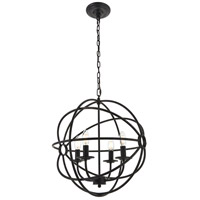 Living District LD4006D18DB Octavia 4 Light 18 inch Dark Brown Pendant Ceiling Light