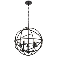 Living District LD4006D20DB Octavia 5 Light 20 inch Dark Brown Pendant Ceiling Light