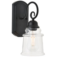 Living District LD4007W5BK Spire 1 Light 5 inch Black Wall Sconce Wall Light