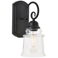 Living District LD4007W5BK Spire 1 Light 5 inch Black Wall Sconce Wall Light
