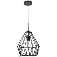 Living District LD4008D11BK Candor 1 Light 11 inch Black Pendant Ceiling Light