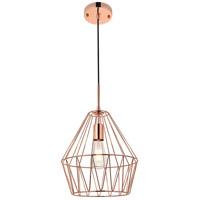 Living District LD4008D11G Candor 1 Light 11 inch Rose Gold Pendant Ceiling Light