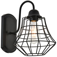 Living District LD4008W10BK Candor 1 Light 8 inch Black Wall Sconce Wall Light