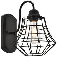 Living District LD4008W10BK Candor 1 Light 8 inch Black Wall Sconce Wall Light