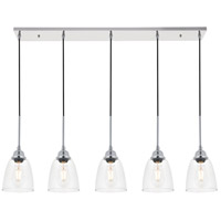 Living District LD4013D46C Felicity 5 Light 6 inch Chrome Pendant Ceiling Light