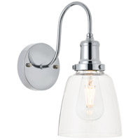 Living District LD4013W6C Felicity 1 Light 6 inch Chrome Wall Sconce Wall Light