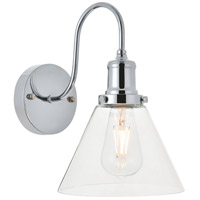 Living District LD4017W7C Histoire 1 Light 8 inch Chrome Wall Sconce Wall Light