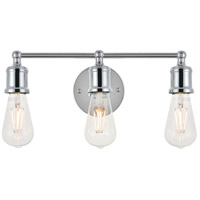 Living District LD4028W16C Serif 3 Light 15 inch Chrome Wall Sconce Wall Light