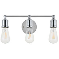 Living District LD4028W16C Serif 3 Light 15 inch Chrome Wall Sconce Wall Light alternative photo thumbnail