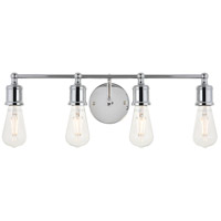Living District LD4028W22C Serif 4 Light 22 inch Chrome Wall Sconce Wall Light