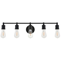 Living District LD4028W29BK Serif 5 Light 29 inch Black Wall Sconce Wall Light alternative photo thumbnail