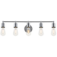 Living District LD4028W29C Serif 5 Light 29 inch Chrome Wall Sconce Wall Light
