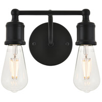 Living District LD4028W9BK Serif 2 Light 9 inch Black Wall Sconce Wall Light photo thumbnail