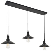 Living District LD4033D42BK Etude 3 Light 9 inch Black Pendant Ceiling Light alternative photo thumbnail