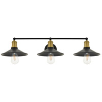 Living District LD4033W33BRB Etude 3 Light 33 inch Brass and Black Wall Sconce Wall Light alternative photo thumbnail