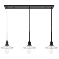 Living District LD4040D41BK Waltz 3 Light 9 inch Black Pendant Ceiling Light