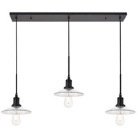 Living District LD4040D41BK Waltz 3 Light 9 inch Black Pendant Ceiling Light alternative photo thumbnail