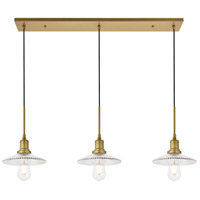 Living District LD4040D41BR Waltz 3 Light 9 inch Brass Pendant Ceiling Light