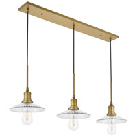 Living District LD4040D41BR Waltz 3 Light 9 inch Brass Pendant Ceiling Light alternative photo thumbnail